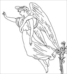 fly angel coloring pages | Daily Inspiration - Daily Quotes: Angels